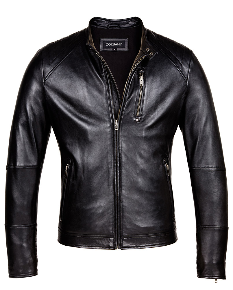 Mens Leather Moto Jacket - Designer Mens Genuine Leather Jackets