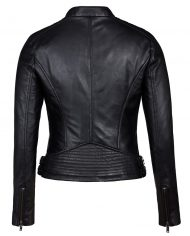 Black-Corbani-Genuine-Asymmetrical-Scuba-Leather-Jacket-Back