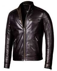 Black-Corbani-Genuine-Biker-Leather-Jacket-Front-Zip-Open