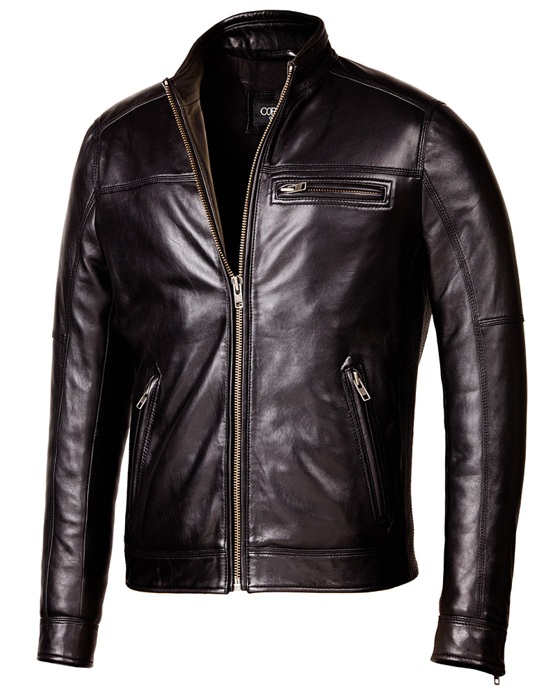 6cbdb4719464b Designer Biker Black Leather Jacket - Mens Genuine Leather Jackets