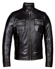 Black-Corbani-Genuine-Racer-Leather-Jacket-Front-Side-Zipped