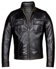 Black-Corbani-Genuine-Racer-Leather-Jacket-Front-Zip-Open