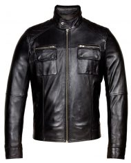 Black-Corbani-Genuine-Racer-Leather-Jacket-Front-Zipped