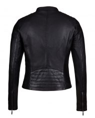 Black-Corbani-Genuine-Womens-Quilted-Shoulder-Scuba-Leather-Jacket-Back