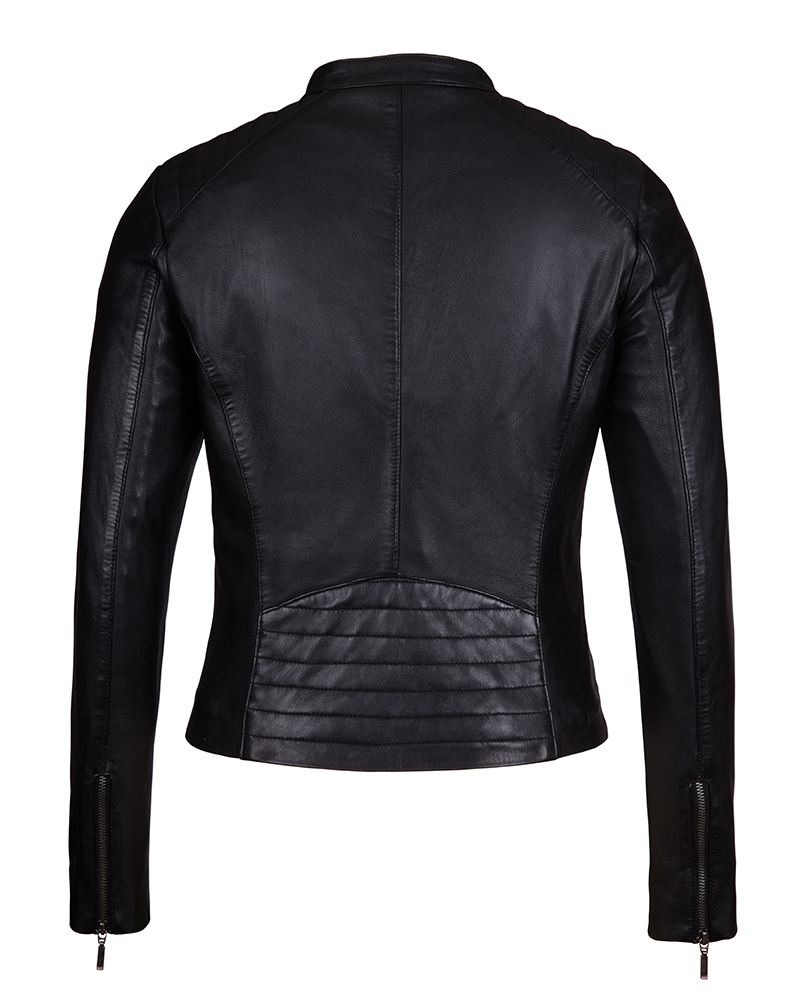 Womens moto jacket leather