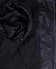 Black-Corbani-Genuine-Womens-Shirt-Collar-Scuba-Leather-Jacket-Inside