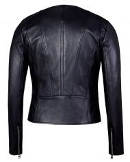 Black-Corbani-Round-Neck-Leather-Jacket-Leather-Jacket-Back