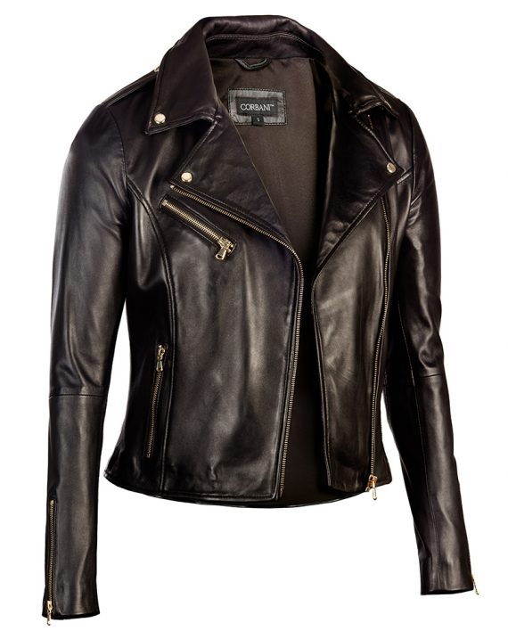 Womens Reset Brand Filter. Brand. Wilsons Leather (49) Black Rivet (13) Ellen Tracy Wilsons Leather Vintage Asymmetrical Cycle Leather Jacket w/ Arm and Side Detail Black Rivet Leather Jacket w/ Vertical Zip Chest Pockets.