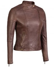 Brown-Corbani-Asymmetrical-Scuba-Leather-Jacket-With-Quilt-Front-Side-Zipped