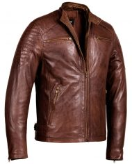 Brown-Corbani-Racer-Leather-Jacket-With-Quilt-Front-Side-Zip-Open
