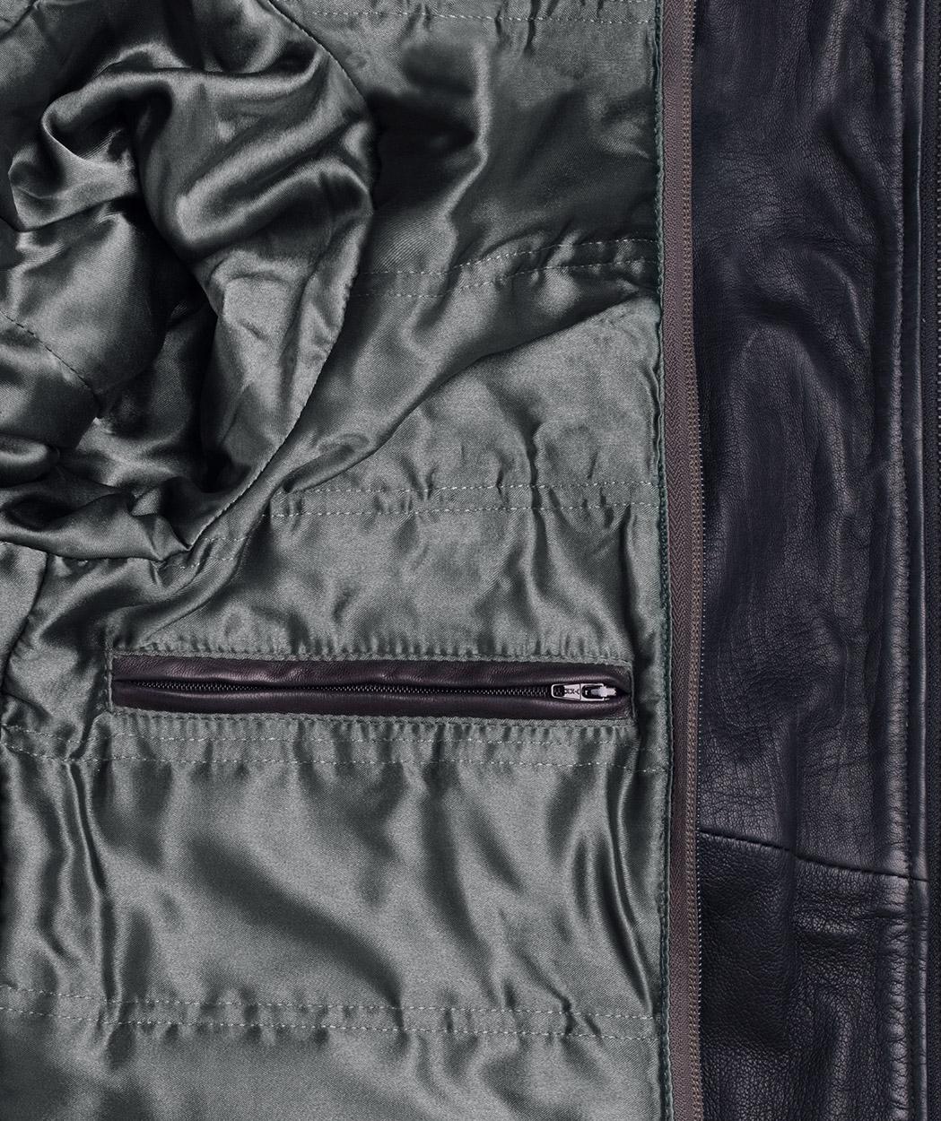 4d4ea2ba7c49 Mens Leather Jacket with Hood Vintage Black Bomber - Genuine Leather