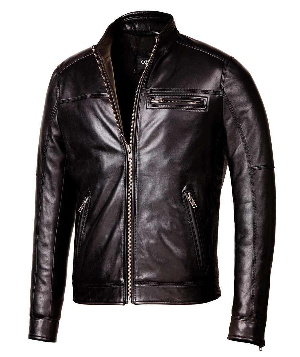 Leather Jacket: Designer Biker Black Leather Jacket
