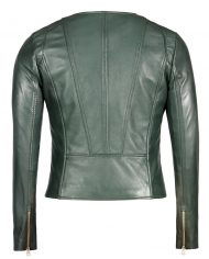 Green-Corbani-Round-Neck-Leather-Jacket-Leather-Jacket-Back