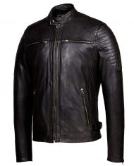 Vintage-Black-Corbani-Racer-Leather-Jacket-With-Quilt-Front-Side-Zipped