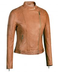 cognac-asymetrical-leather-jacket-front-zipped