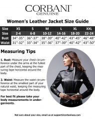 corbani-genuine-womens-size-guide
