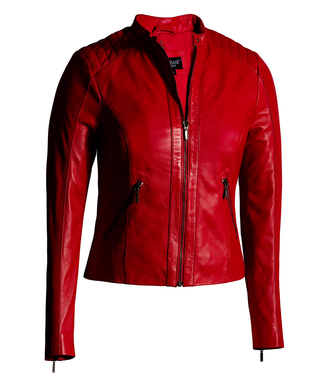Red Leather Jacket for Women Moto Fashion - Genuine Leather Jacket ca814fa97a