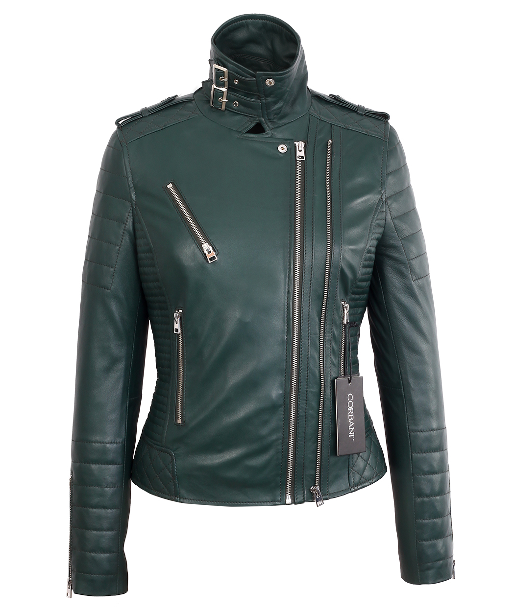 588b873cfe53 ... Womens Biker Green Lambskin Real Leather Jacket. Sale! IMG_6937 ·  IMG_6936