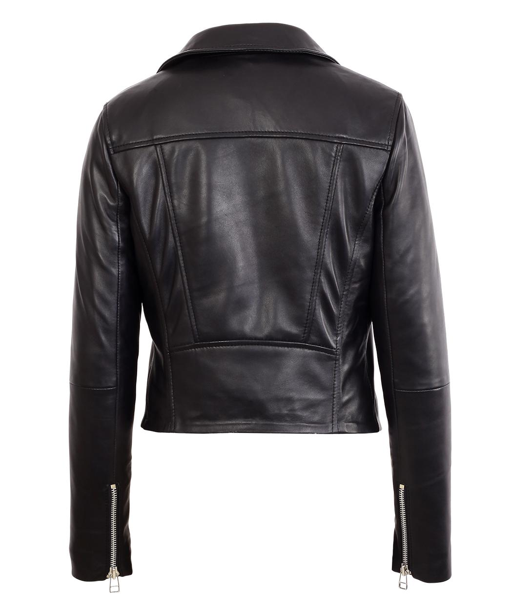 9de069492c5 ... Womens Black Asymmetrical Bomber Lambskin Real Leather Jacket. Sale!  IMG_7140 · IMG_7142 · IMG_7139